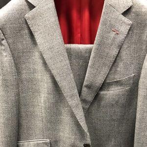 Anzüge Kleidung & Accessoires Ermenegildo Zegna Paris Luxury Designer Suit Jacket Striped Classic Fit 40r Jade Weiß